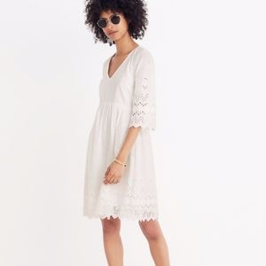 Madewell White Eyelet Dress